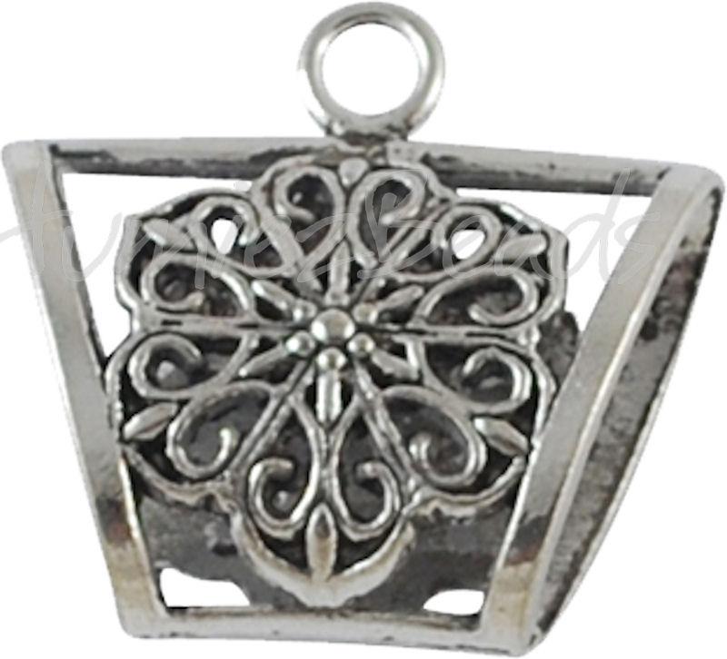 02532 Spacer met oog Antiek zilver (Nikkelvrij)1 stuks