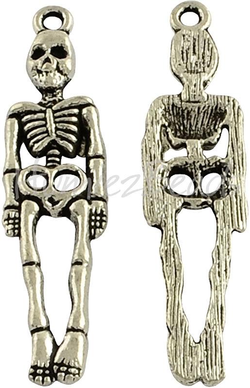 00836 Bedel skelet Antiek zilver (Nickel vrij) 39mmx9mmx3mm