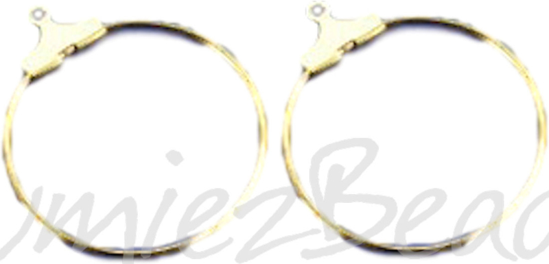 03492 Creolen voor aan oorbel Goudkleurig (Nikkelvrij) 30mm 3 paar