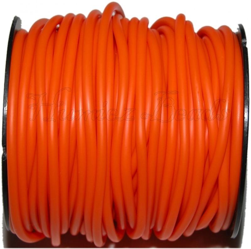 R-4008 Rubberkoord hol Oranje 4mm; gat 1,5mm 3 meter