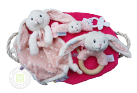Knuffel Kraammand Little Dutch Roze