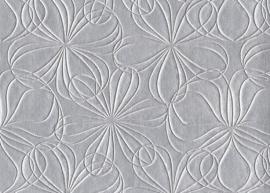 Vyva Fabrics - Agua - Mystique Fleur Silver
