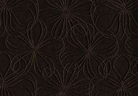 Vyva Fabrics - Agua - Mystique Fleur Chocolate