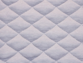 Vyva Fabrics - Matrastijk 1015 Grey Big Diamond