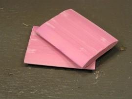 Stoffeerderskrijt roze/rood