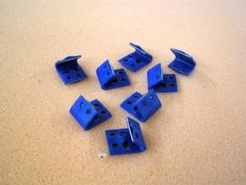 Nosag klemmen - Zigzag bankveer clips (zwart)