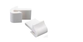 Kunsstof (Wit) Nosag zigzag bankveer houder / klem / clips