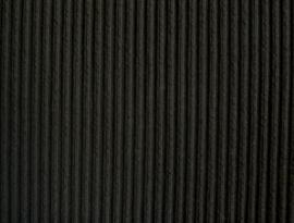 2 meter Coupon Chicago rib zwart -  kleur 199
