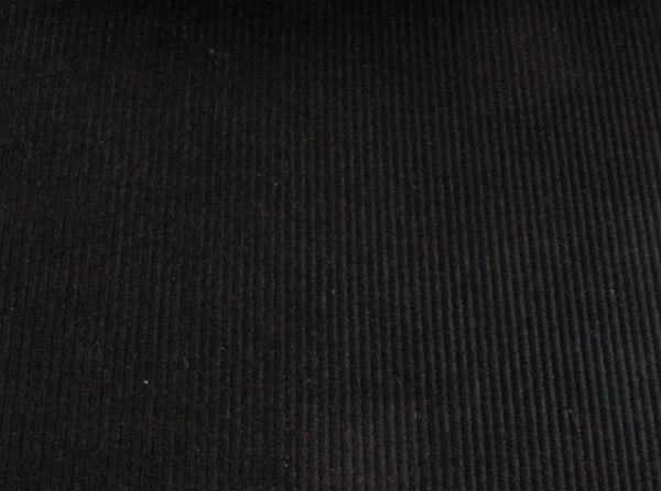 1,5 meter Manchester kleur 1 - Diep warm zwart