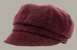 Muts 'Mona Jersey Angora Wine' - bordeaux rood wollen hoedje voor dames - maat 57/59 - CTH Ericson