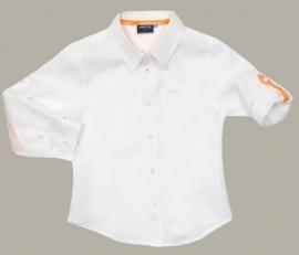 Vinrose wit linnen overhemd 'Boris' Optical White - maat 152 - VR43