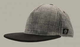 Cap 'Otis Jr.' Glencheck Black - maat 48/50/52/54 - CTH Mini