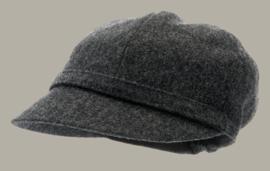 Muts 'Helena Melton Shetland Graphite' - grijs wollen hoedje voor dames - maat 59 - CTH Ericson