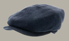 Pet `Gordon` Ramie Blue - newsboy cap - blauw - maat 46/48/50/52/54 - CTH Mini