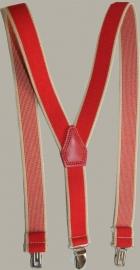 Bretels - rood met zand bies - maat baby/kleuter