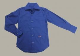 Jan van Trier - overhemd blauw - maat 128 - JT12