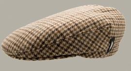 Pet `Philip Eleganta Beige` - flat-cap met oorflappen - beige geruit - maat 50 - CTH Mini