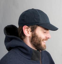 Cap 'Ben Waxed Cotton Marin' - baseball cap met oorflappen donkerblauw - maat 46/48/50/52/56/58/60 - CTH Mini