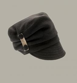 Muts 'Linda Wool Mix' - grijs wollen hoedje voor meisjes - maat 48/50/52/54 - CTH Mini