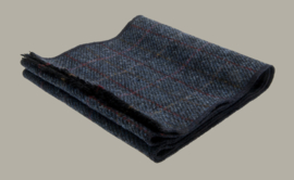 Shawl 'Edgar' Tweed  Overcheck Blue - one size - wollen shawl - CTH Eriscon
