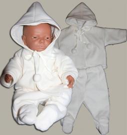 Arsa Baby setje `Casper` - dooppakje - ecru wollen fleece - maat 62 - AR01