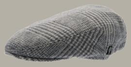 Pet 'Philip Glencheck Blue-Grey' - flatcap met oorflappen - grijs pied-de-poule - maat 46/48/50/52/56 - CTH Mini