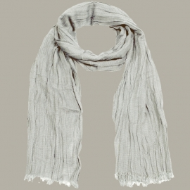 Shawl 'Job' grijs - handgeweven viscose/linnen - FI