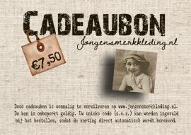 Cadeaubon 7,50 euro