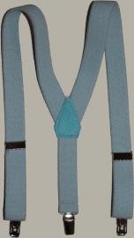 Bretels - lichtblauw - maat kind/tiener 85 cm.