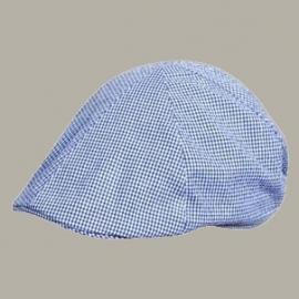 Pet 'Senn' - driver-cap - donkerblauw/wit geruit - maat 51/53/55 - FI