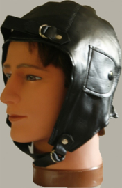 Pilotenmuts zwart skai leer (verkleedkleding) - PE