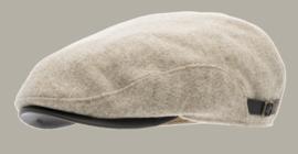 Pet `Ernst Moon Shetland Beige` - flat-cap - beige wollen pet - maat 58/60/62 - CTH Ericson