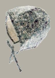 Bonnet 'Esther Liberty' Blue - reversible bloemen dessin - maat 44 - CTH Mini