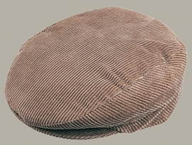 Pet `Sietse` - flat-cap - bruin rib - maat 60 - FI