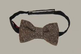 Bow-Tie 'Tweed' - bruin wollen - vlinderstrik - BowTie London