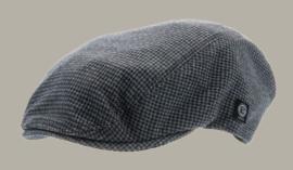 Pet 'Jens' Petite Blue - flat cap - blauw pied-de-poule - maat 52-54 - CTH Mini