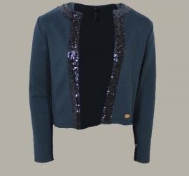 Vinrose blazer 'Inka' Blue - donkerblauw vest/colbertje - maat 110/116 - VR88