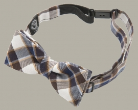Bow-Tie 'Knut Jr.' Flannel Blue/Brown - vlinderstrik - CTH Mini