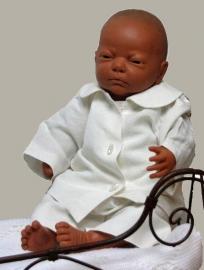 Arsa Baby setje `Benjamin` - dooppakje - ecru linnen - maat 56 - AR03