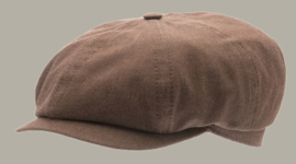 Pet `Alan` Morgado/Liberty Brown - newsboy cap - bruin - maat 58/60 - CTH Ericson