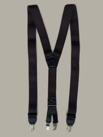 Bretels bruin met dubbele clips - maat 140 t/m volwassen maat - EL