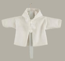 Arsa Baby doopjasje `Casper` - wit wollen fleece cape - maat 62 - AR02