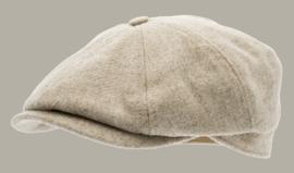 Pet `Alan Moon Shetland Beige` - newsboy cap - maat 58/60/62 - CTH Ericson