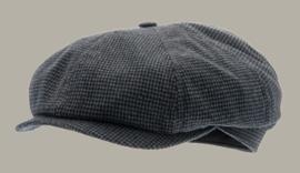 Pet `Alan` Petite Blue - newsboy cap - blauw pied-de-poule - maat 58/61 - CTH Ericson