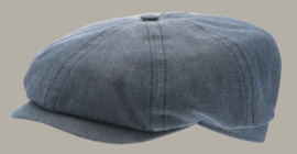 Pet `Alan` Morgado/Liberty Blue - newsboy cap - blauw - maat 58/59/60/61 - CTH Ericson