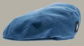 Pet `Philip Cord Air` - rib flat-cap met oorflappen - corduroy azuur blauw - maat 50 - CTH Mini