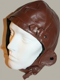 Pilotenmuts licht bruin skai leer (verkleedkleding) - PE