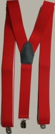 Bretels - rood - maat 134 t/m volwassen maat - PE