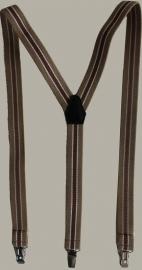 Bretels - zand/ecru/bruin gestreept - maat baby - 55 cm. - EL