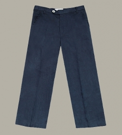 Little Linens 'Midnight Navy' donkerblauwe linnen pantalon - maat 110/116 - LL48